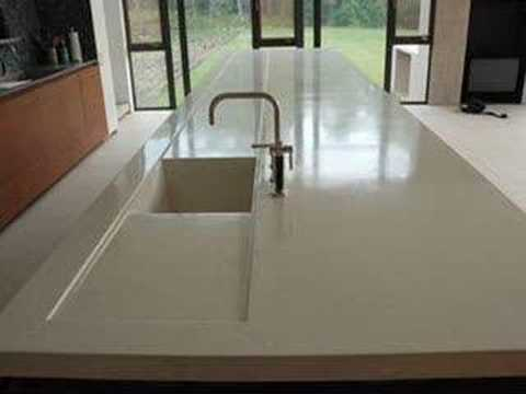Concrete Countertop 17ft, 1700lbs 035A ConcreteNetwork.com - YouTube