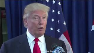 Donald Trump says he hopes to release his tax returns before the election