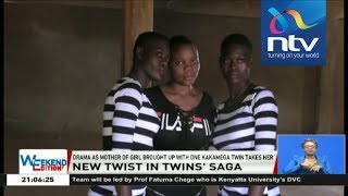 Drama as mother of girl brought up with one Kakamega twin takes her