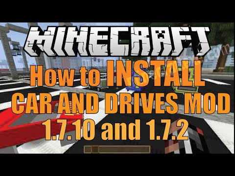 How to The Install Car and Drives Mod 1.8.4/1.7.10/1.7.2 (mac)