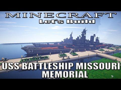 Minecraft Let's Build USS  Battleship Missouri Memorial (EP2)