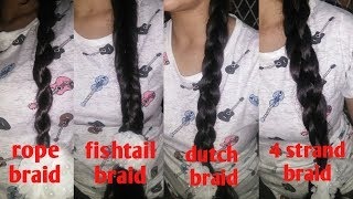 Easy and quick 2/3/4 strand braid hairstyles   for short,medium and long hair   in hindi