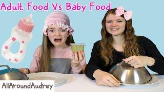 Parents Food vs. Kids Food Challenge (Funny)/ AllAroundAudrey