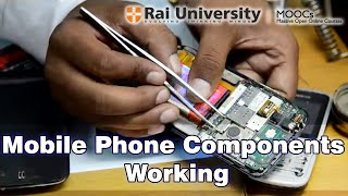 Mobile phone components working