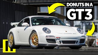 Glorious Sounding Porsche 911 GT3 Rips Donuts in the Burnyard