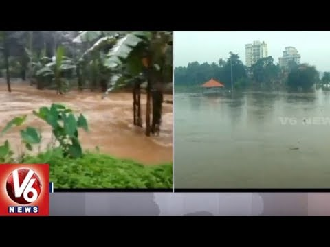 Heavy Rain Lashes Several Parts Of Kerala, NDRF Forces Launches Rescue Operation | V6 News