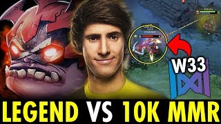 DENDI PUDGE vs Nigma.W33 when Legend Dota vs 10K MMR | Genius Pudge