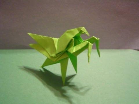 origami daily 192 praying mantis modular origami