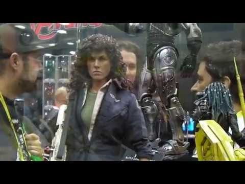 SAN DIEGO COMIC CON 2014 HOT TOYS 1/6 ALIEN RIPLEY & ALIENS POWER LOADER