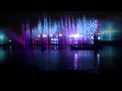 Dubai festival city lighting show....