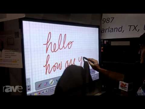 CEDIA 2013: KeyTec Shows its OPTIR Touch Interactive Whiteboard