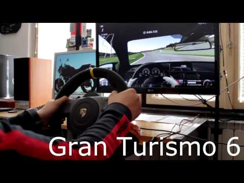 Fanatec Porsche 911 GT3 RS v2 Racing wheel - Gameplay GT6 PS3