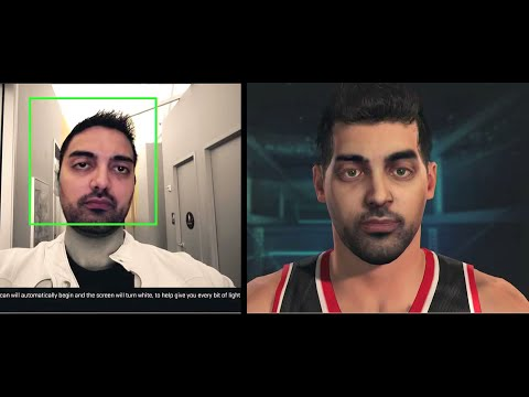 Ronnie 2K demonstrates how Face Scan works in NBA 2K15   Your Time Has Come To Face Scan