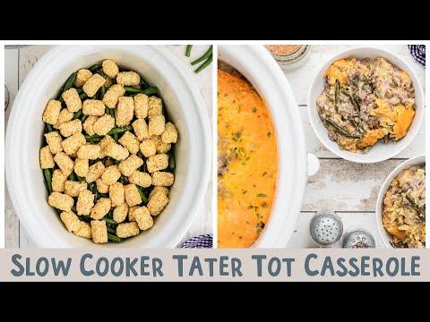 Slow  Cooker Tater Tot Casserole thumbnail