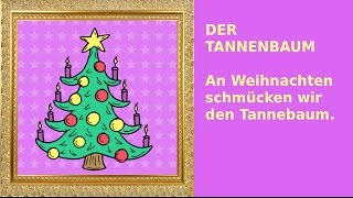 Weihnachten: 24 Sätze auf Deutsch - German for children + beginners: christmas
