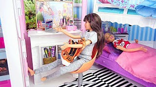 Good and Bad Skipper Twins Barbie Sisters Dolls Morning Routine Poupée Bonne et Mauvaise Skipper