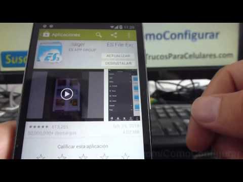 Cómo explorar los archivos en mi Android Motorola Moto G X T1032 español comoconfigurar