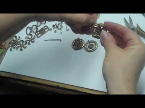 Jewelry Making 101: Easy Steampunk Designs with Brass Stampings By B'sue Boutiques