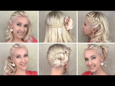 6 Cute Braided Hairstyles For Everyday For Medium long Hair video