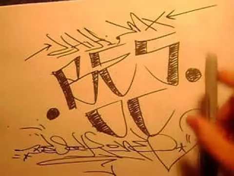 Como hacer unas letras cholas paso a paso por besok - YouTube