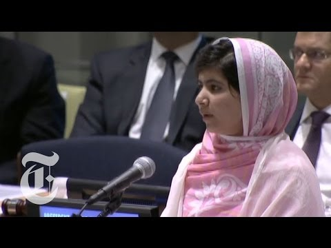 Malala Yousafzai UN Speech: Girl Shot in Attack by Taliban Gives Address | The New York Times
