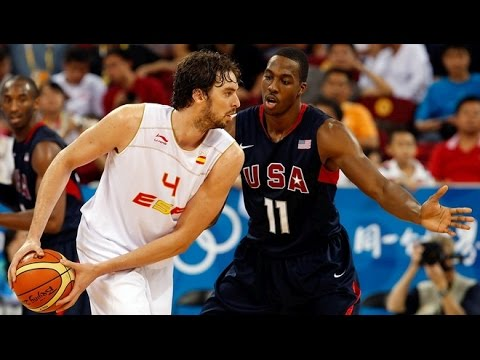Spain vs USA 2008 Beijing Olympics Men's Basketball Group Round FULL GAME HD 720p English