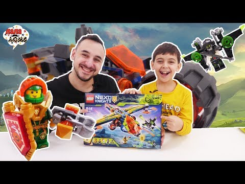 Папа Роб и Ярик: сборка мотоцикла из конструктора LEGO NEXO KNIGHTS Аэро-арбалет Аарона!
