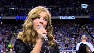 "Jackie Evancho ""The National Anthem"" Thanksgiving Day 2013"