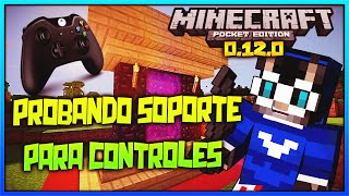 Minecraft PE 0.12.1 Build 1 | Probando Mando, Teclado y Mouse