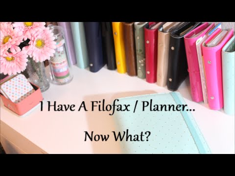 I Have A Filofax / Planner…Now What?