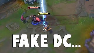 THE FAKE DISCONNECT - Watch This Xerath Destroy Gank by Faking Disconnect | Funny LoL Series #444