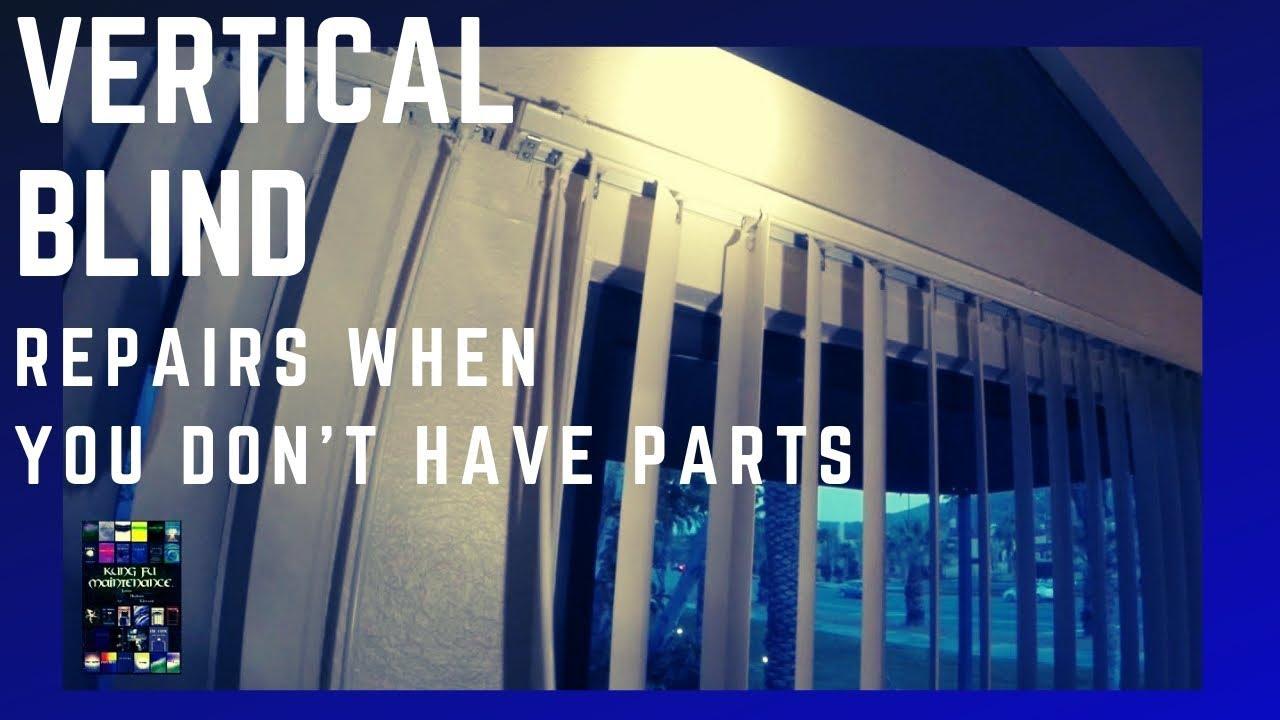 How To Repair Vertical Blinds Broken Stems Gears Not