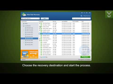 Wise Data Recovery - Find and restore lost or deleted data - Download Video Previews