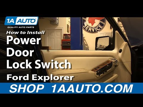 How To Install Replace Power Door Lock Switch 2006-10 Ford Explorer