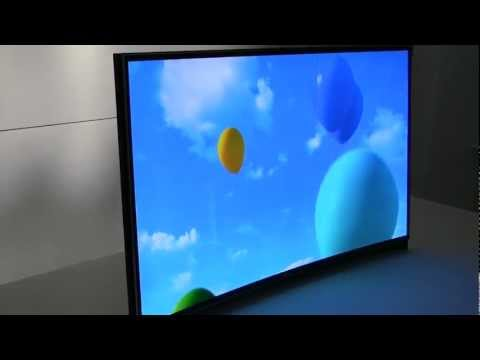 CES 2013 Samsung OLED TV Curved Screen (similar to LG OLED Curved Screen)