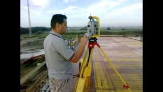 Free station  with the Trimble S6 robotic total station