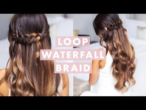 Cute & Easy Loop Waterfall Braid