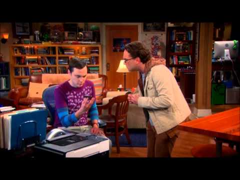 The Big Bang Theory - Sheldon and Stephen Hawking on the phone
