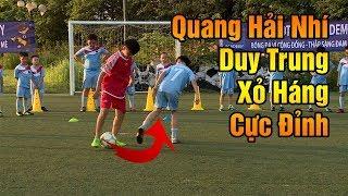 Thử thách bóng đá Quang Hải Nhí Duy Trung Xỏ Hảng Cả Team Đội Bóng Nhí