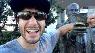Overly Excited Tourist Has A Sugar High In Atlanta