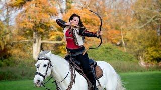 Real-Life Robin Hoods: Stunt Couple Fire Arrows From Horseback