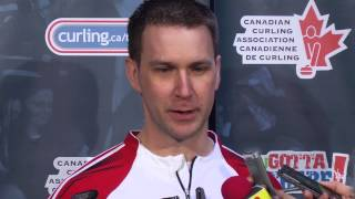 Draw 10 Media Scrum - 2013 Tim Hortons Brier