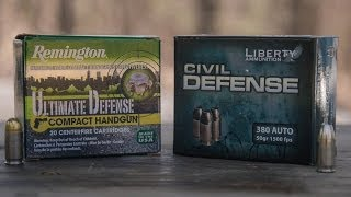 New .380 Remington Ultimate Defense & Liberty Civil Defense Ammo Review - Glock 42