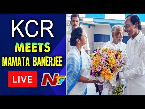 CM KCR Meets Mamata Banerjee Over Federal Front LIVE | NTV Live