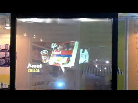 Amul The Taste Of India Holographic Projection At Vibrant Gujarat 2013.mp4 video