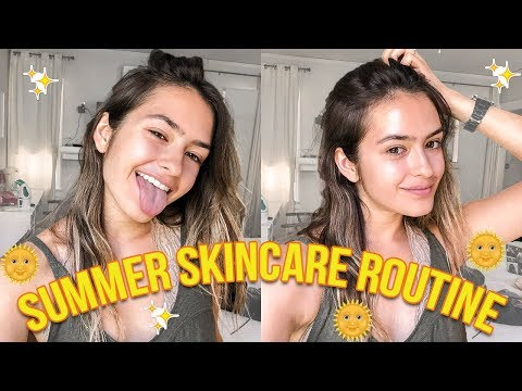 SUMMER SKINCARE ROUTINE: what makes my skin stay clear | Natalie Barbu