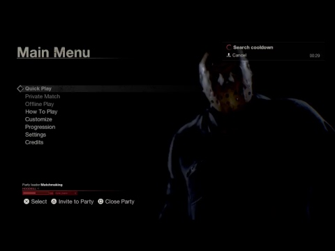 PS4live Friday the 13th: The Game Salt Mines Coming Tomorrow Big Update Single Player Challenge's