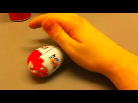 Unboxing a kinder surprise egg