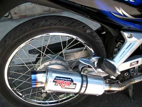 [YamahaT135.COM] R9 racing Exhaust Monza Blue Jupiter MX