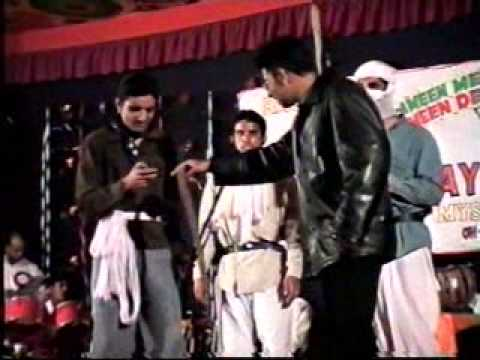 al ameen medical college students; kanger group in a skit (gabbar...